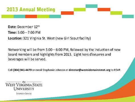 annual meeting invitation template 187 west side annual meeting on dec 12