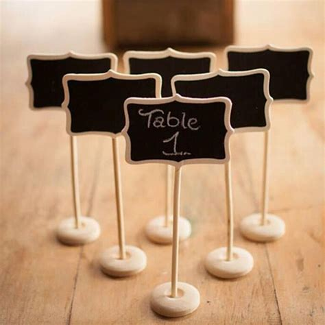 wooden number holders 1 pcs vintage mini wood chalkboard blackboard wooden place