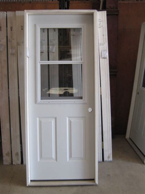 Exterior Steel Door With Window 35 Exterior Metal Doors Exterior Prehung Doors Without Glass Steel Doors The Home Depot