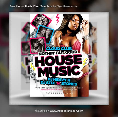 free house music websites 20 new free club flyer templates website design inspiration web design resources