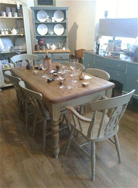 French Country Dining Room Sets Shabby Chic Farmhouse Style Table With 4 Fiddleback Chairs