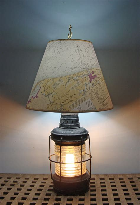 Nautical Bedroom Lighting Nautical Table L Re Purposed Anchor Lantern Skipjack