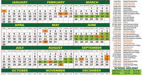 Kalender 2018 Selangor 2018 Calendar Malaysia Kalendar 2018