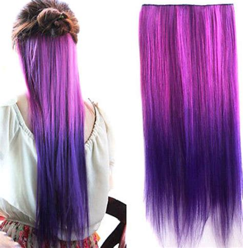 hair extensions purple purple ombre clip in hair extensions