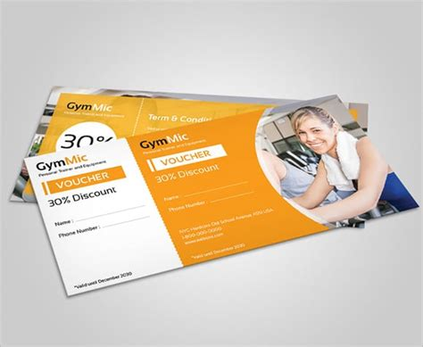 Fitness Gift Card Template by 6 Free Gift Voucher Templates Excel Pdf Formats