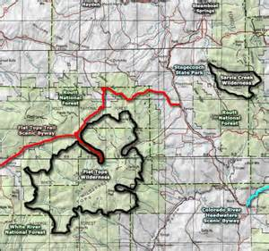 map of colorado wilderness areas flat tops wilderness