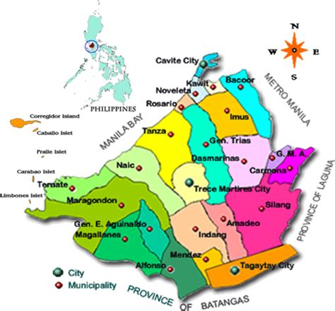 Cavite The by File Cavite Map Jpg