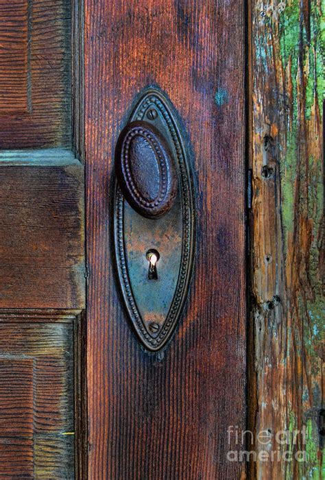 vintage door knob photograph by battaglia
