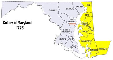 maryland map colony map of maryland colony
