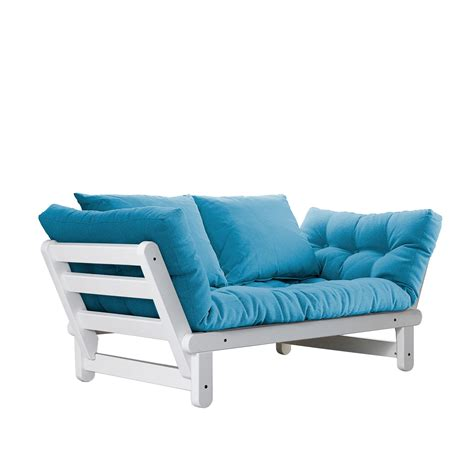 white frame futon beat white frame natural cushion fresh futon