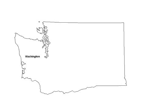 Blank Outline Map Of Washington State by Blank Washington State County Map