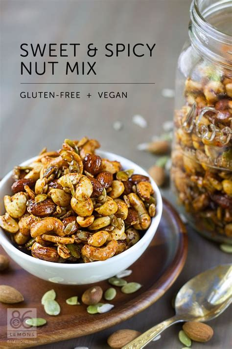 sweet spicy nut mix vegan gf snacks and appetizers