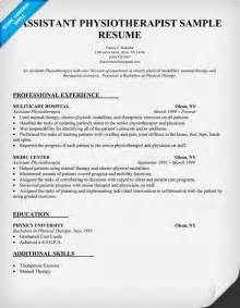 Curriculum Vitae For Physical Therapist by Physiotherapist Cv Example Pictures To Pin On Pinterest
