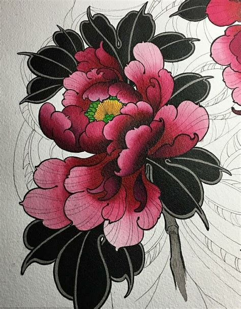 japanese flower tattoo flower design visit artskillus ru for more