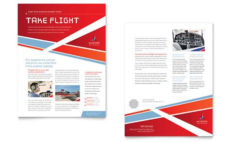 pages app rack card template aviation flight instructor datasheet template design