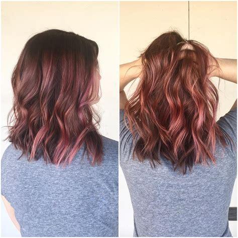 color or streaks in jlos hair dusty rose with pink streaks hair styles pinterest