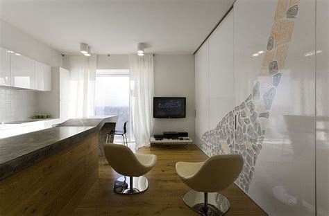 separate kitchen from living room ideas minimalist apartment in moscow exuding elegance throughout