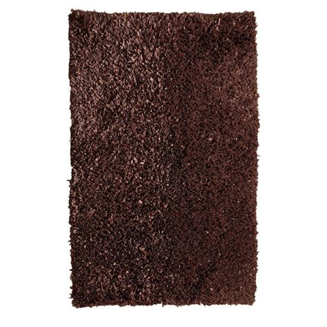 chesapeake rugs chesapeake merchandising comfy shag cocoa 5 ft x 7 ft area rug 79102 the home depot
