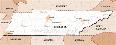 us map states tennessee tennessee maps