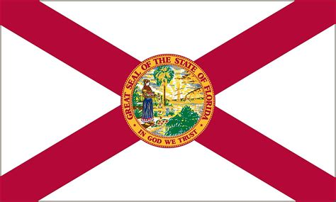 Florida State Flag Coloring Pages Usa For Kids Florida State Flag Coloring Page
