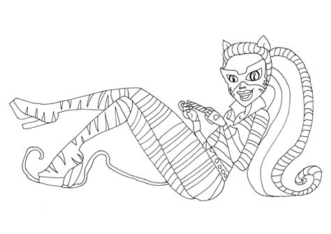 monster high cats coloring pages free printable monster high coloring pages toralei stripe
