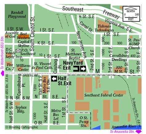 washington dc map navy yard washington navy yard map