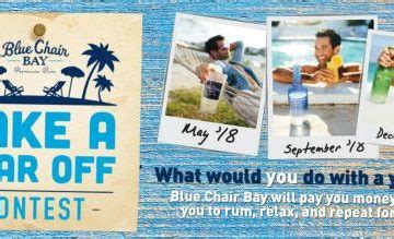 Blue Chair Bay Rum Sweepstakes - win a year off with blue chair bay rum contest