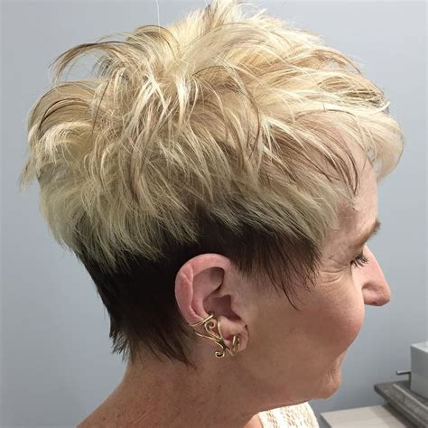 mature hairstyles back view back view of short haircuts older women best short