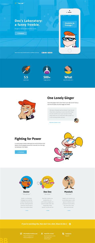 design lab website dexter lab website design freebie psd download download psd
