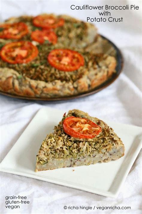 gluten free vegan recipes cauliflower broccoli masala pie with potato black eyed pea
