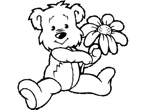 teddy coloring page teddy coloring pages theme free printable teddy