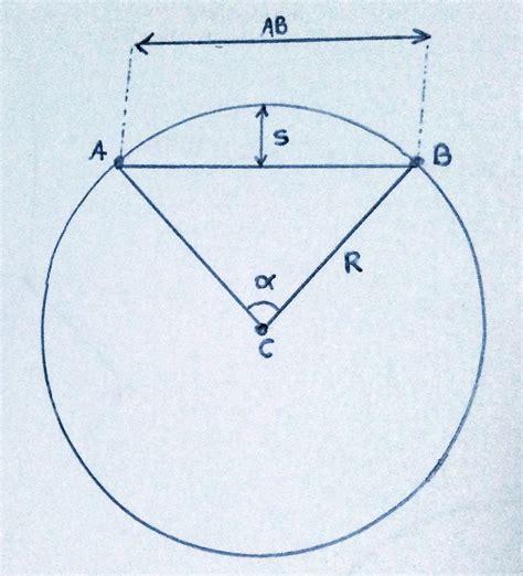 calculator arc geometry problem calculate arc inner triangle