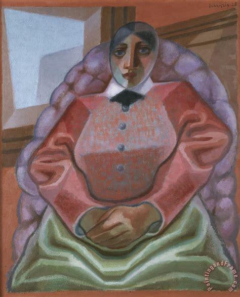 woman in an armchair juan gris woman in an armchair painting woman in an