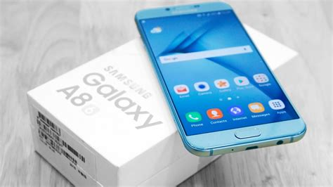 Harga Samsung A8 2018 Blue samsung galaxy a8 2016 unboxing on