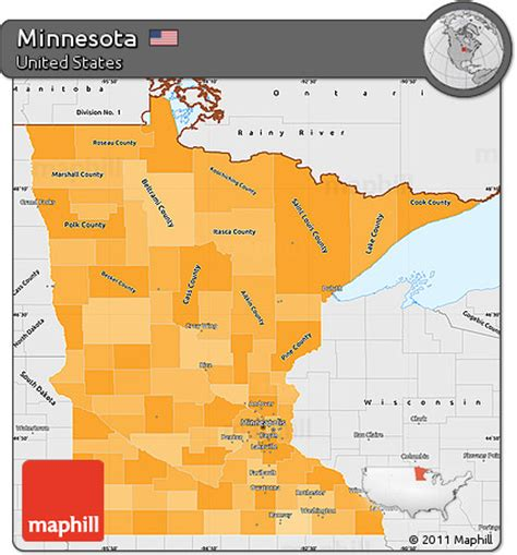 Mn Simple Search Free Political Shades Simple Map Of Minnesota Single Color Outside Borders And Labels