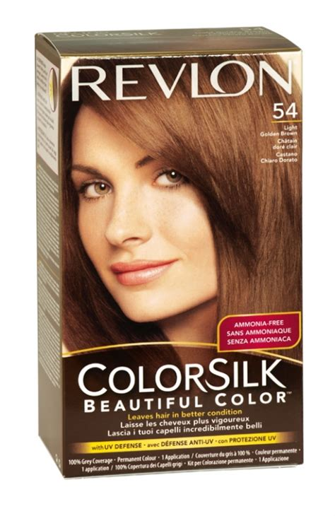 Revlon Colorsilk 54 Lgold Brown revlon colorsilk hair colour 54 light golden brown