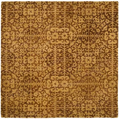 8 square rug safavieh antiquity gold beige 8 ft x 8 ft square area rug at411a 8sq the home depot