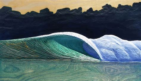 artist carves   amazing waves  wood