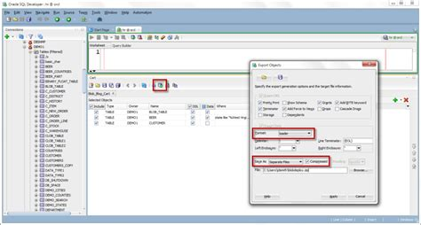 display oracle sql output rows on one single line exporting multiple blobs with oracle sql developer