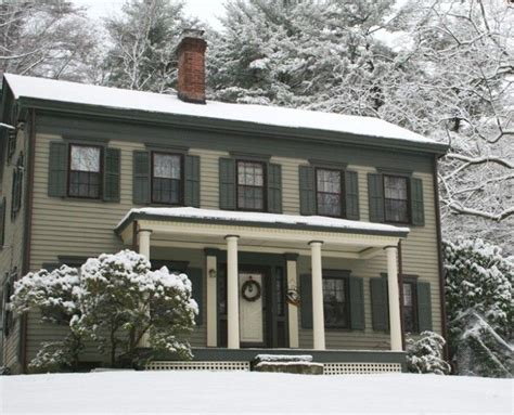 federal style houses federal style house in snow home colors pinterest