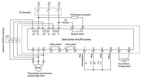 soft starter wiring diagram ajr3 intelligent motor soft starter buy motor soft
