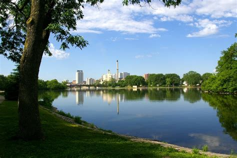 park rochester mn panoramio photo of downtown rochester mn as seen from silver lake park