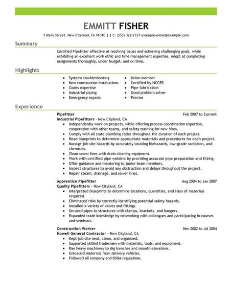 sle resume for electrical engineer in construction field 23 best trades resume templates sles images on