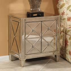 Mirrored Nightstand Romney 2 Door Mirrored Nightstand At Hayneedle