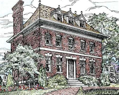 brick colonial house plans stately brick home plan 11602gc 2nd floor master suite