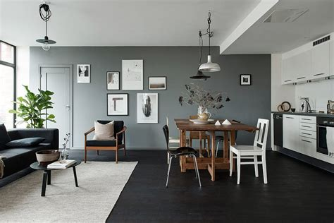 gray walls black floors grey walls and lots of pieces coco