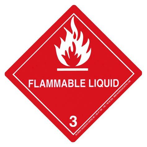hazardous dot hazmat labels class 3 hazmat
