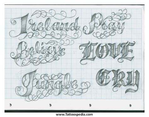 tattoo lettering templates tattoo lettering template 4