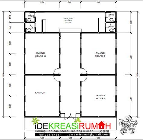 desain gambar kerja sekolah paud sederhana minimalis ide kreasi rumah