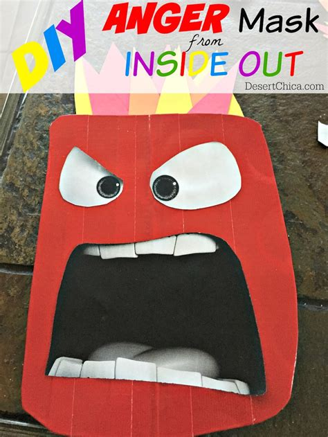 How Do You Make A Mask Out Of Paper - diy anger from inside out costume desert chica